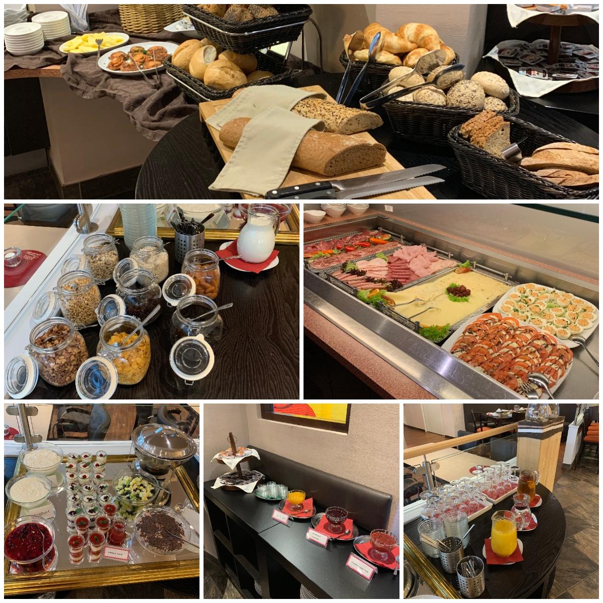 Frühstücksbuffet im Bistro Modehaus Schulte